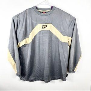 NIKE Dri Fit Purdue Gray Pullover Sweater L/S XL